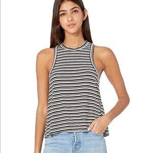 Volcom What she said striped tank black and white